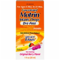 Motrin Original Berry Flavor Dye-Free Infants' Drops