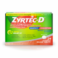 Zyrtec-D 12-Hour Allergy & Congestion Relief Tablets - 24 ct