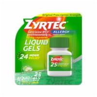 Zyrtec 24-Hour Original Prescription Strength Allergy Relief Liquid Gels 10mg - 25 ct