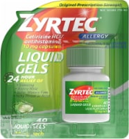 Zyrtec 24-Hour Allergy Relief Liquid Gels 10mg