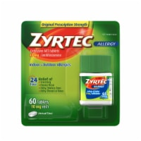 Zyrtec Indoor & Outdoor Allergy Tablets 10mg 60 Count