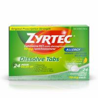 Zyrtec 24-Hour Allergy Citrus Flavor Dissolving Tablets 10mg - 24 ct