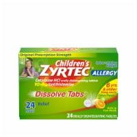 Zyrtec Children's 24 Hour Citrus Flavor Dissolving Allergy Tablets 10mg 24 Count - 24 ct