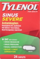 Tylenol Sinus Severe Day Congestion & Pain Relief Caplets - 24 ct