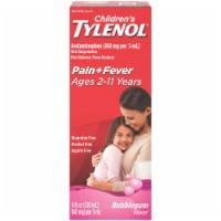 Children's Tylenol Pain + Fever Bubblegum Flavor Oral Suspension