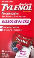 Tylenol Pain Reliever & Fever Reducer Berry Flavor Dissolve Packets