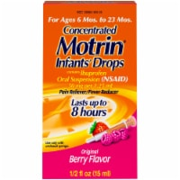 Motrin Infants' Drops Ibuprofen Original Berry Flavor Oral Suspension Fever Reducer