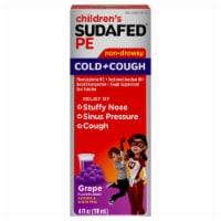 Sudafed PE Children's Grape Flavor Non-Drowsy Cold & Cough Liquid