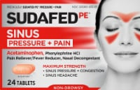 Sudafed PE Pressure and Pain Relief Caplets