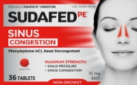 Sudafed PE Non-Drowsy Maximum Strength Congestion Tablets 10mg