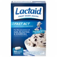 Lactaid Fast Act Lactase Enzyme Supplement Caplets 60 Count