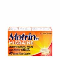 Motrin IB Migraine Iburpofen Capsules 200mg - 80 ct
