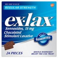 Ex-Lax Regular Strength Chocolated Stimulant Laxative 15mg