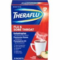 Theraflu Flu & Sore Throat Apple Cinnamon Powder - 6 ct