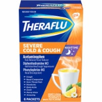 Theraflu Nighttime Honey Lemon Flavored Severe Cold & Cough Packets