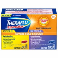 Theraflu Express Max Severe Cough & Cold Daytime & Nightime Combo Coated Caplets