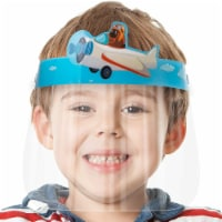 10 Pack Face Shield for Kids - Airplane Blue Kids Face Shield   Easy to Use   Comfortable - 1