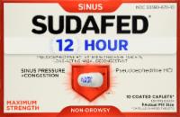 Sudafed 12 Hour Caplets - 1 Count