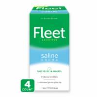 Fleet Saline Enema Laxative - 4 ct / 4.5 fl oz