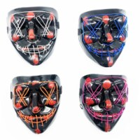 Blinkee REWHPMAC Rave EL Wire Halloween Party Mask, Assorted Color - 1