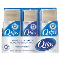 Q-tips Cotton Swabs (625 Count, 2 Pack; 500 Count, 1 Pack) - 1 unit
