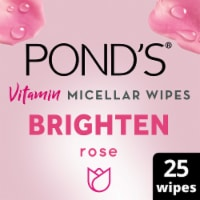 Pond's Brighten Rose Vitamin Micellar Wipes 25 Count