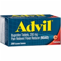 Advil Pain Reliever/Fever Reducer Ibuprofen Coated Tablets 200mg