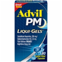 Advil® PM Liqui-Gels® Pain Reliever/Nighttime Sleep Aid Liquid Filled Capsules 80 Count