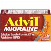 Advil Migraine Liquid Filled Capsules 200mg - 80 ct
