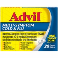 Advil Multi-Symptom Cold & Flu Coated Tablets 200mg