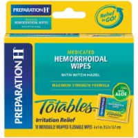 Preparation H Totables Flushable Medicated Hemorrhoidal Wipes