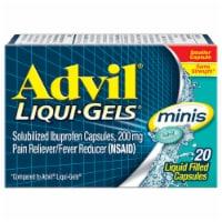 Advil Liqui-Gels Minis Pain Reliever/Fever Reducer Ibuprofen Liquid Filed Capsules 200mg
