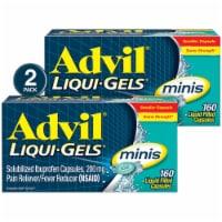 Advil Liqui-Gels Minis Pain Reliever Capsules 200mg (2 Pack)