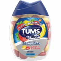 Tums with Gas Relief Lemon & Strawberry Chewy Bites Antacids Tablets - 54 ct