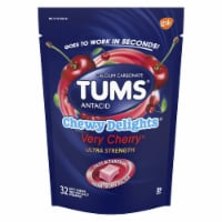 Tums Chewy Delights Very Cherry Antacid Soft Chews