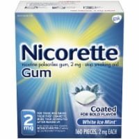 Nicorette White Ice Mint Nicotine Gum 2mg