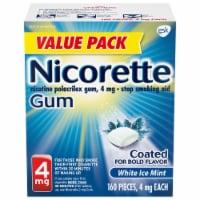 Nicorette White Ice Mint Nicotine Gum 4mg