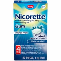 Nicorette White Ice Mint Nicotine Gum 4mg