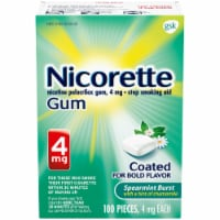 Nicorette Spearmint Burst Nicotine Gum 4mg