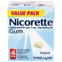 Nicorette Original Unflavored Nicotine Gum 4mg