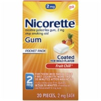 Nicorette Smoking Cessation Fruit Chill Nicotine Gum 2mg