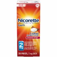 Nicorette Cinnamon Surge Coated Gum 2 mg
