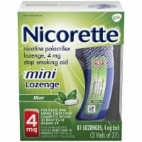 Nicorette Smoking Cessation Mint Flavor Mini Lozenges 4mg