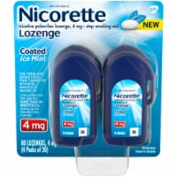 Nicorette Coated Ice Mint Lozenges 4mg