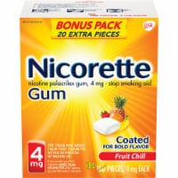 Nicorette Fruit Chill Nicotine Gum 4mg Bonus Pack