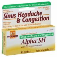 Boericke & Tafel Alpha SH Sinus Headache & Congestion Tablets - 40 ct