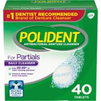 Polident Partials Antibacterial Denture Cleanser Tablets