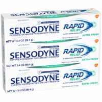 Sensodyne Rapid Relief Extra Fresh Sensitivity Toothpaste - 3 ct / 3.4 oz