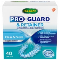 Polident ProGuard & Retainer Antibacterial Daily Cleanser Tablets - 40 ct