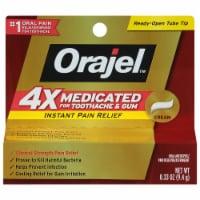 Orajel 4x Medicated Toothache & Gum Instant Pain Relief Cream